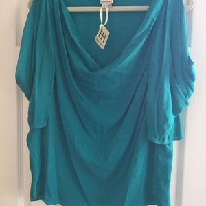 NWT Haute Hippie teal colored top